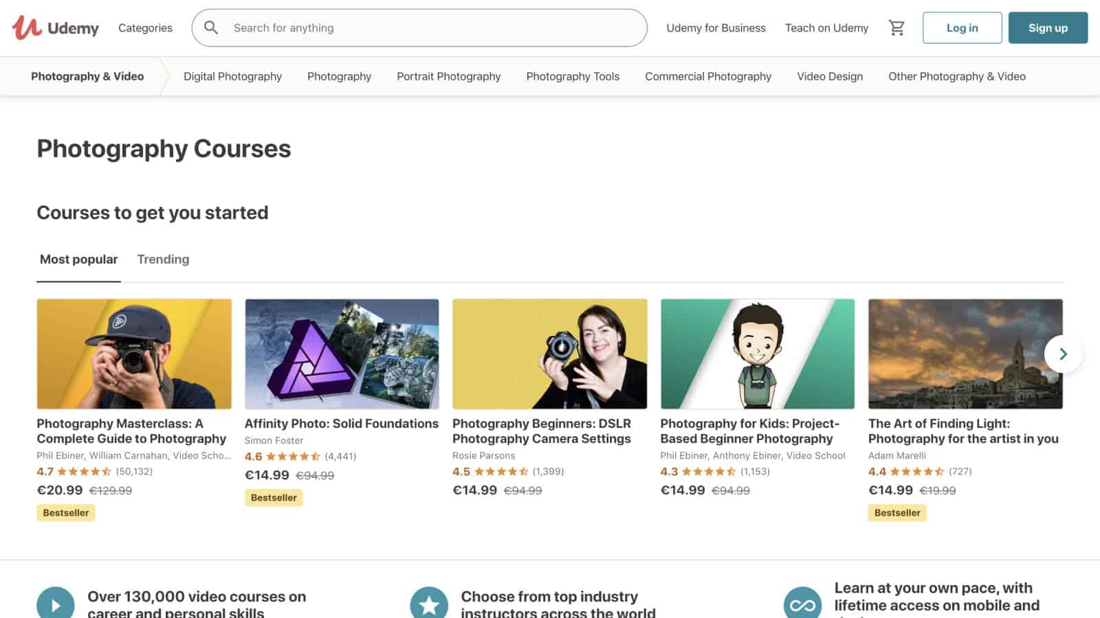 You can sell photography courses on Udemy