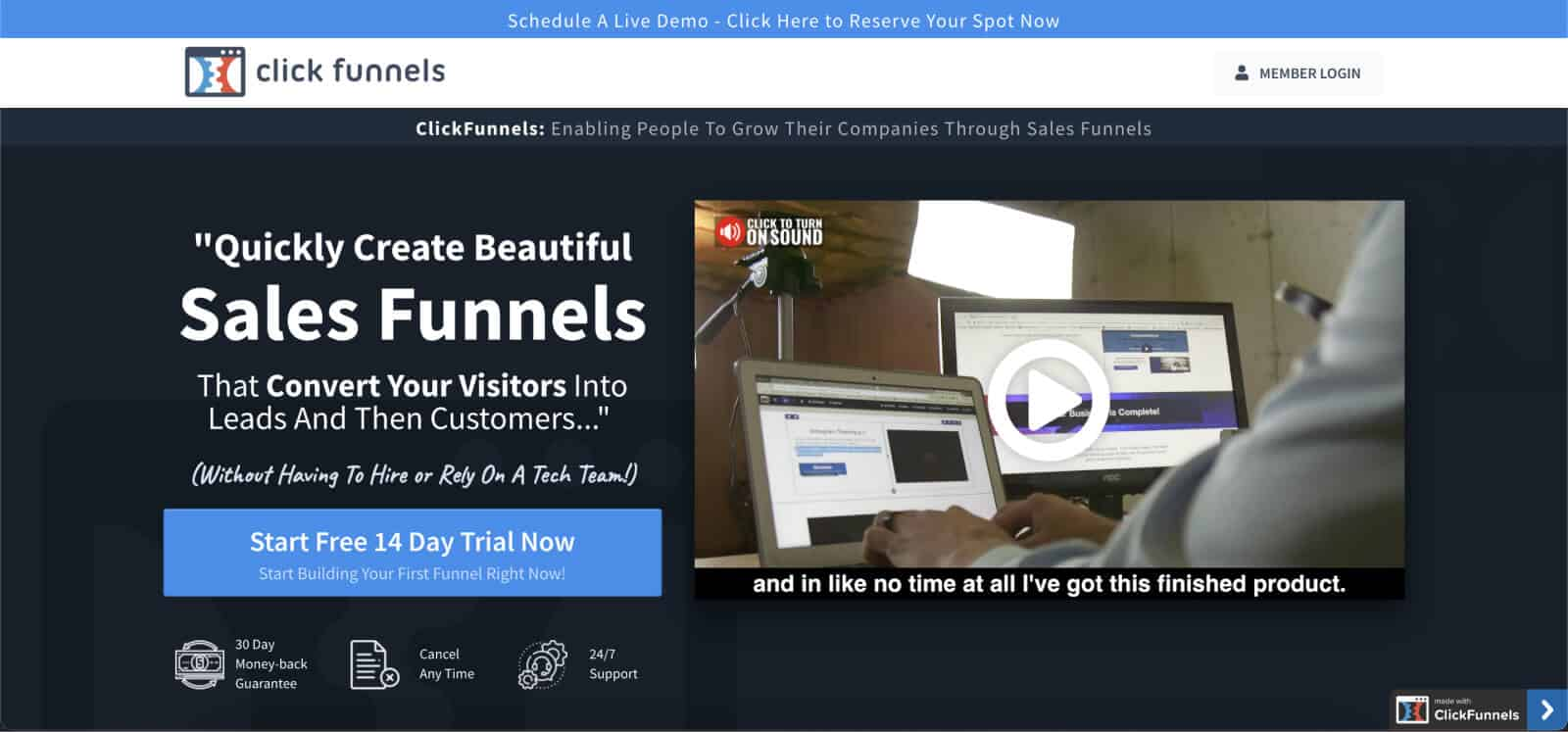 ClickFunnels is one of the most popular funnel-building apps.