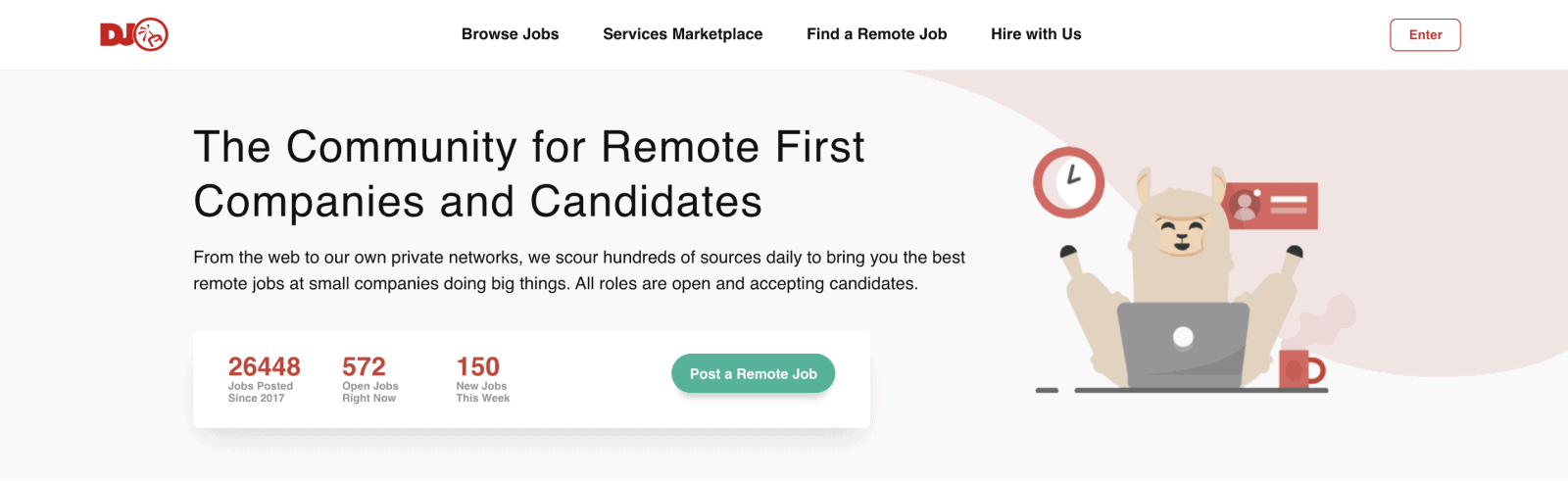 Dynamite Jobs is one of the leading job boards for remote positions.