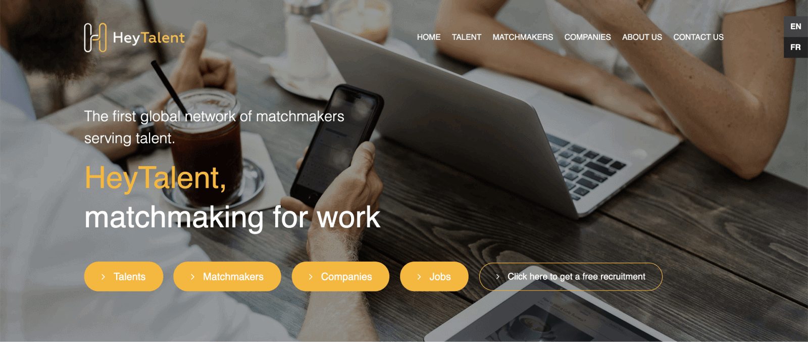 """HeyTalent is a network of """"matchmakers"""" that helps connect talent with employers."""