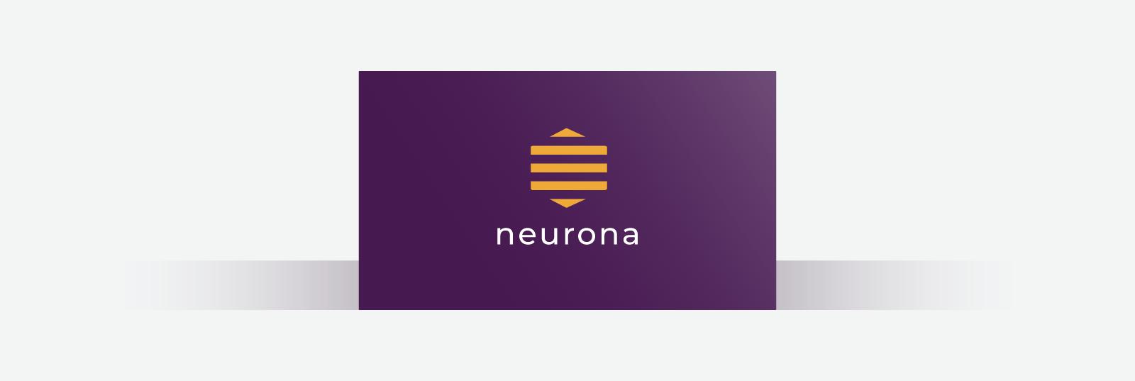 Dark purple business card