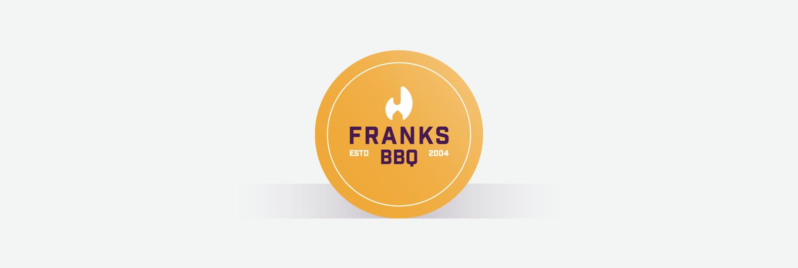 Orange circle business card