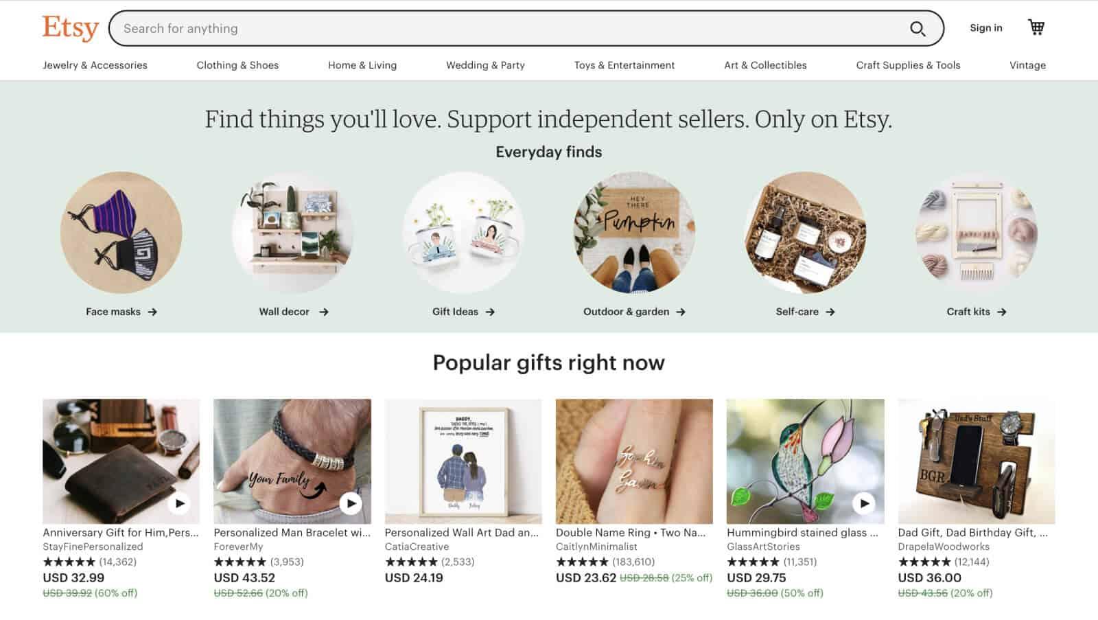 Etsy is the leading marketplace for handmade, artisanal goods