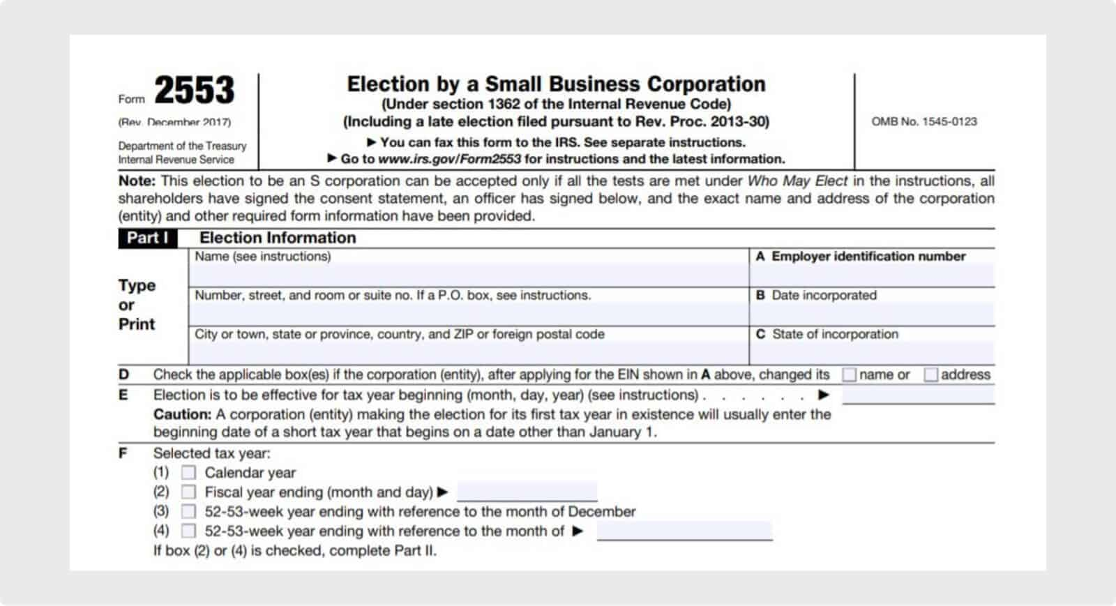 IRS Form 2253