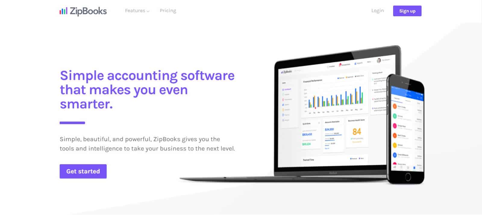 ZipBooks is advertised as a free accounting and invoicing software