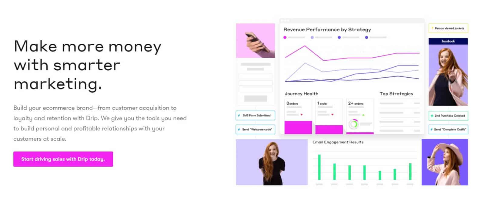 Drip is an email marketing service designed to empower ecommerce startups