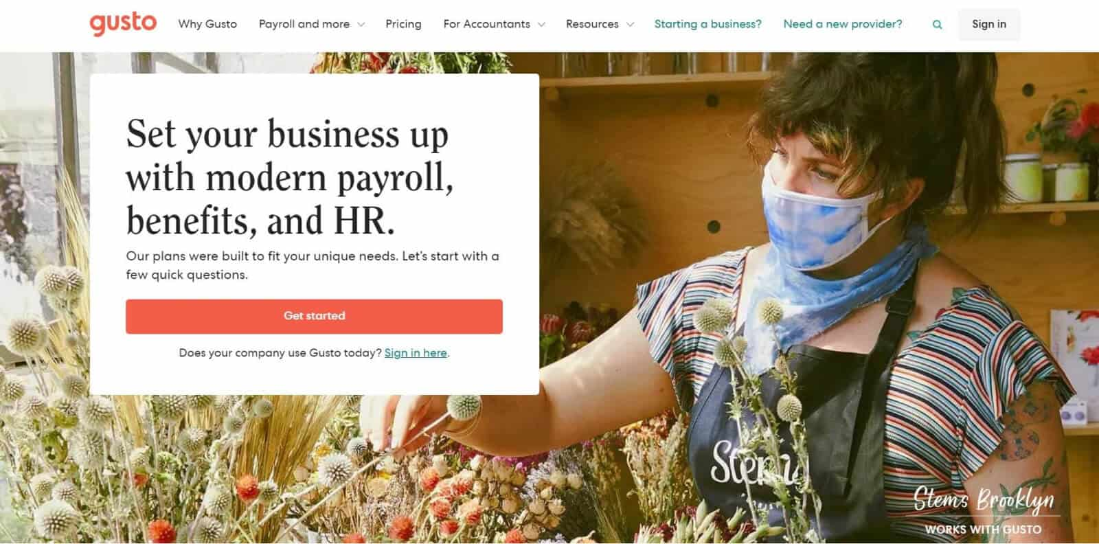 Gusto has an easy-to-navigate user interface that simplifies payroll management