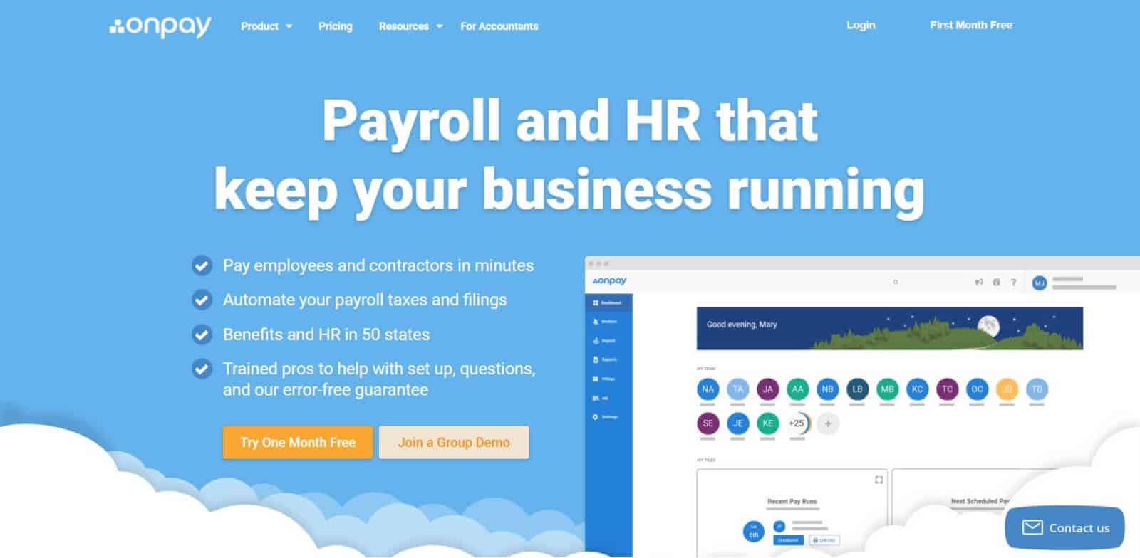 OnPay is one of the most affordable payroll management and HR management solutions on the market