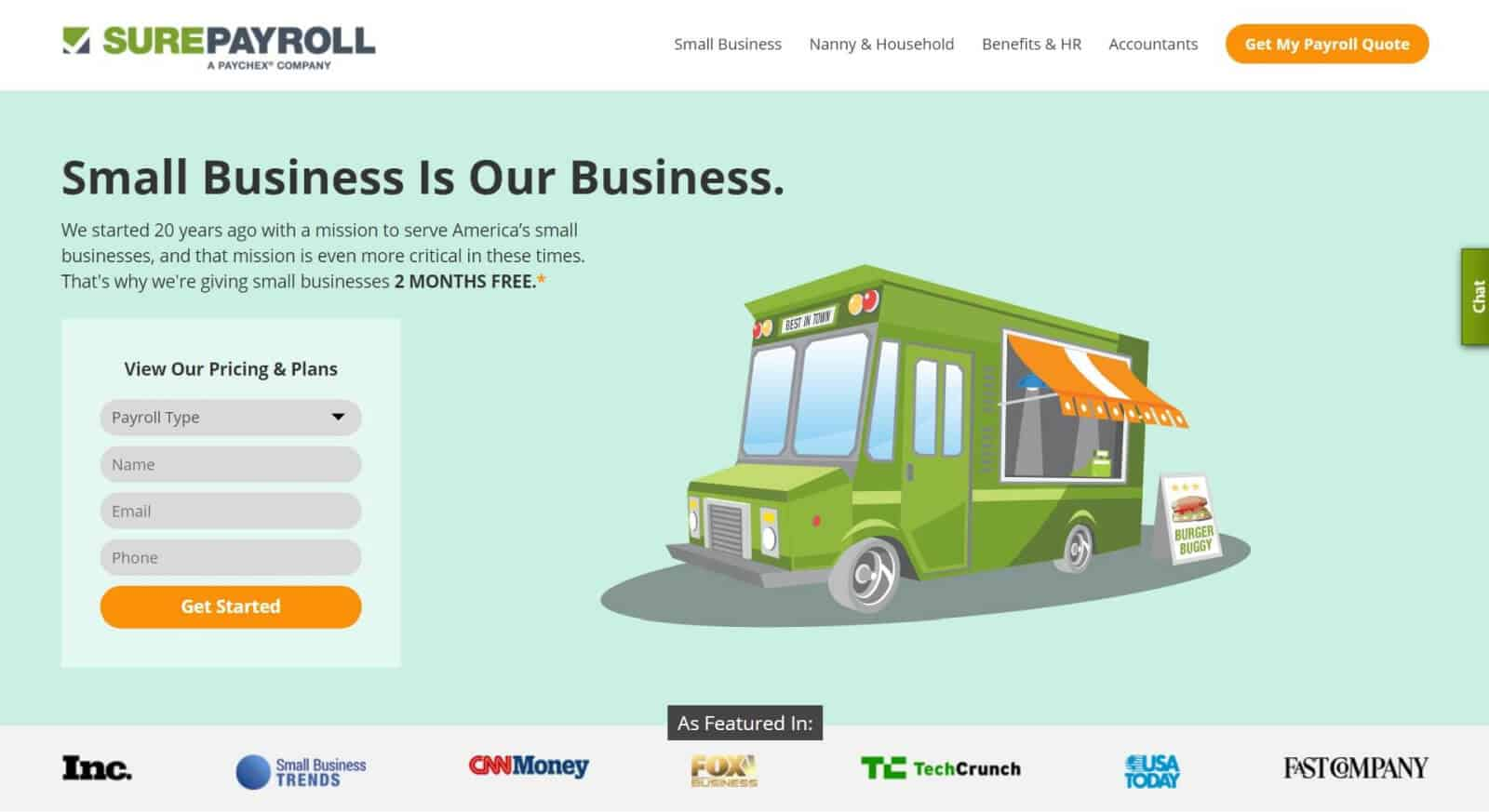 SurePayroll has been in business for 20 years