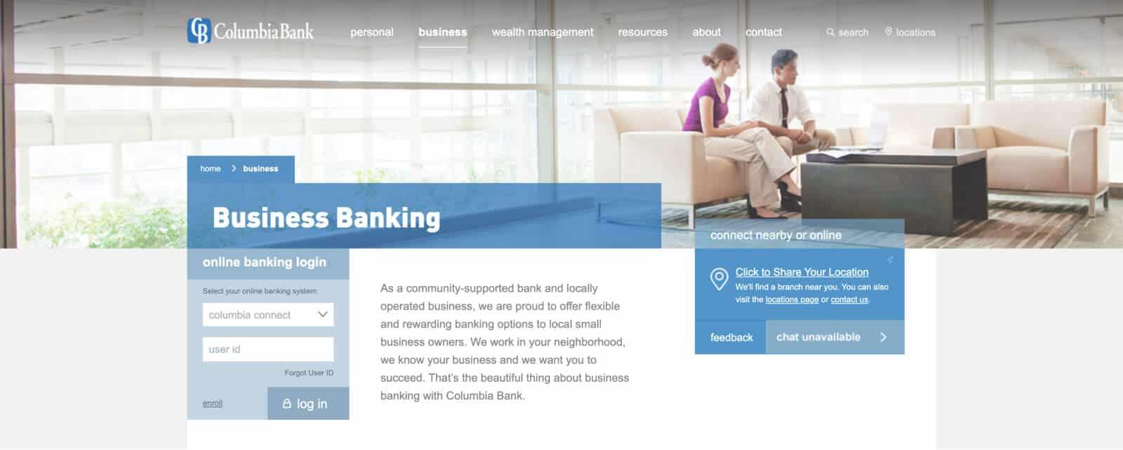 Columbia Bank in Oregon