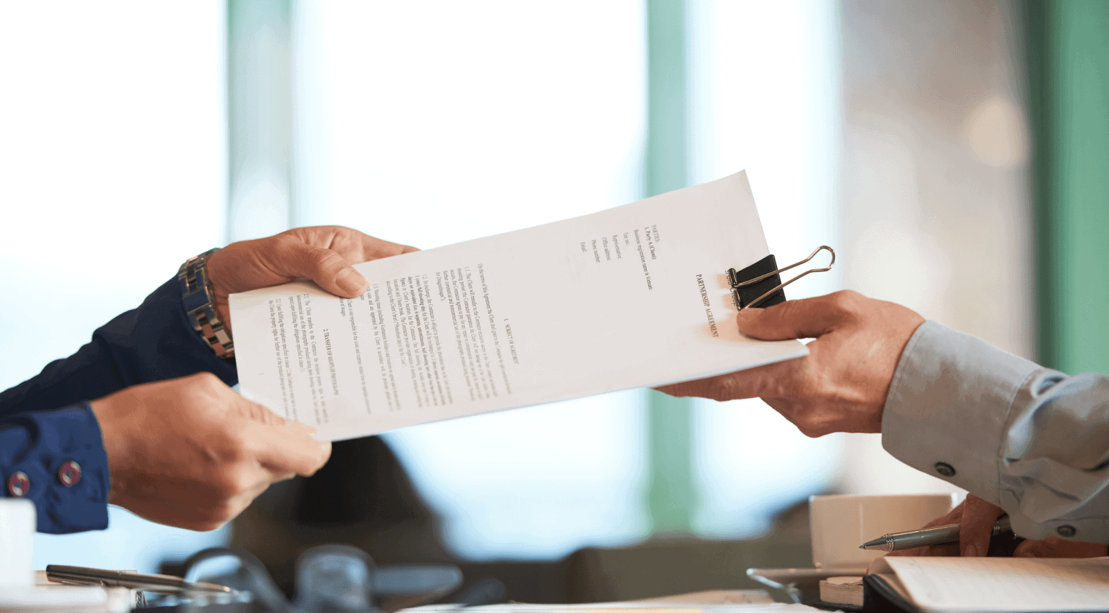Define the role of the LLC organizer in the operating agreement