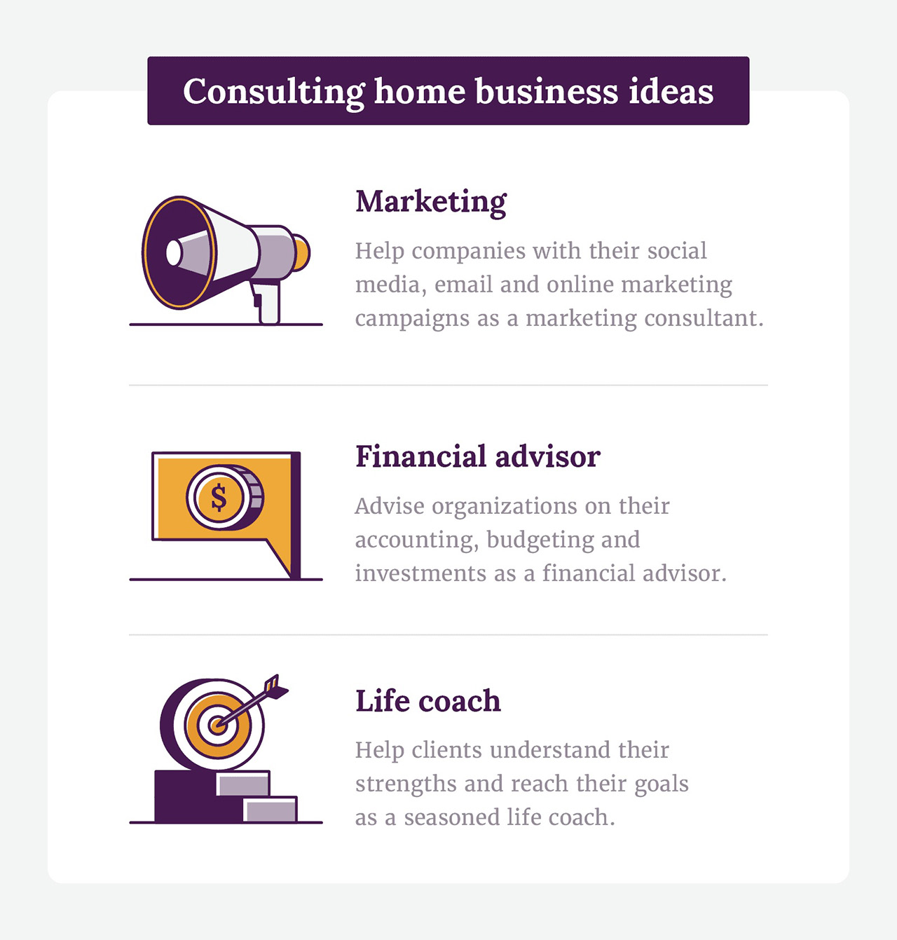 Consulting home business ideas