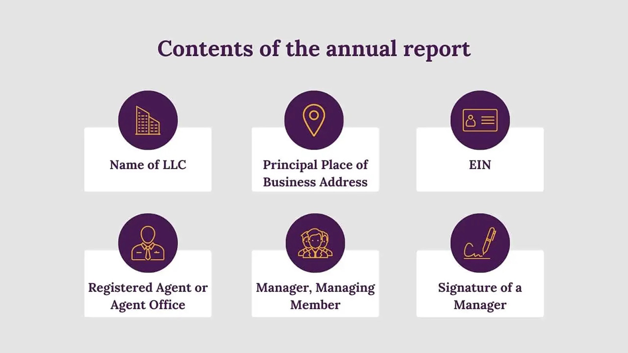 Contents of the annual report