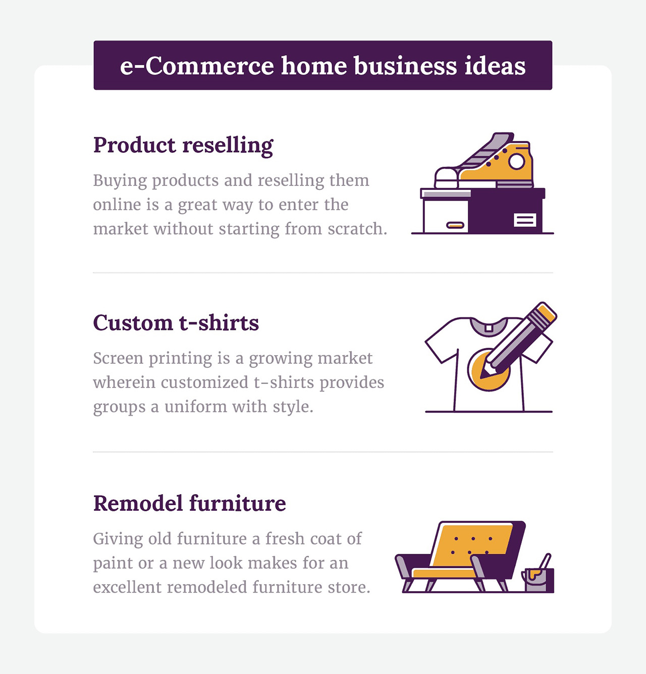 eCommerce home business ideas