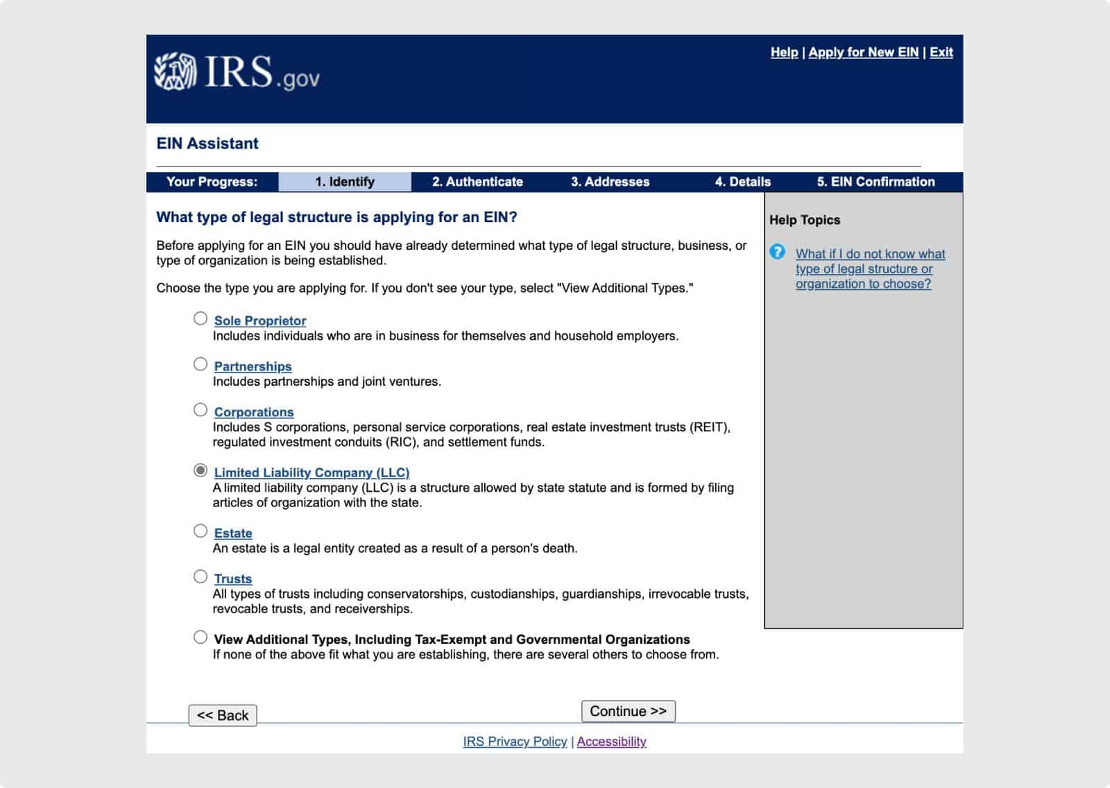LLCs will need an EIN from the IRS to open a business account and hire employees