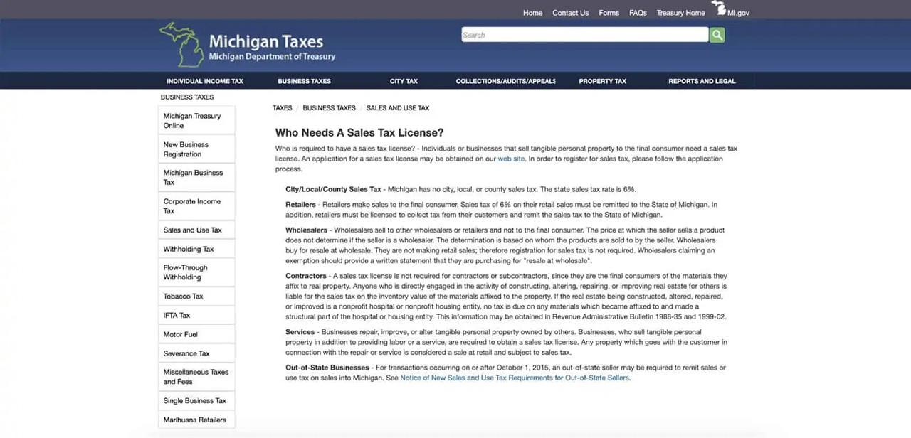Overview of who needs a sales tax license