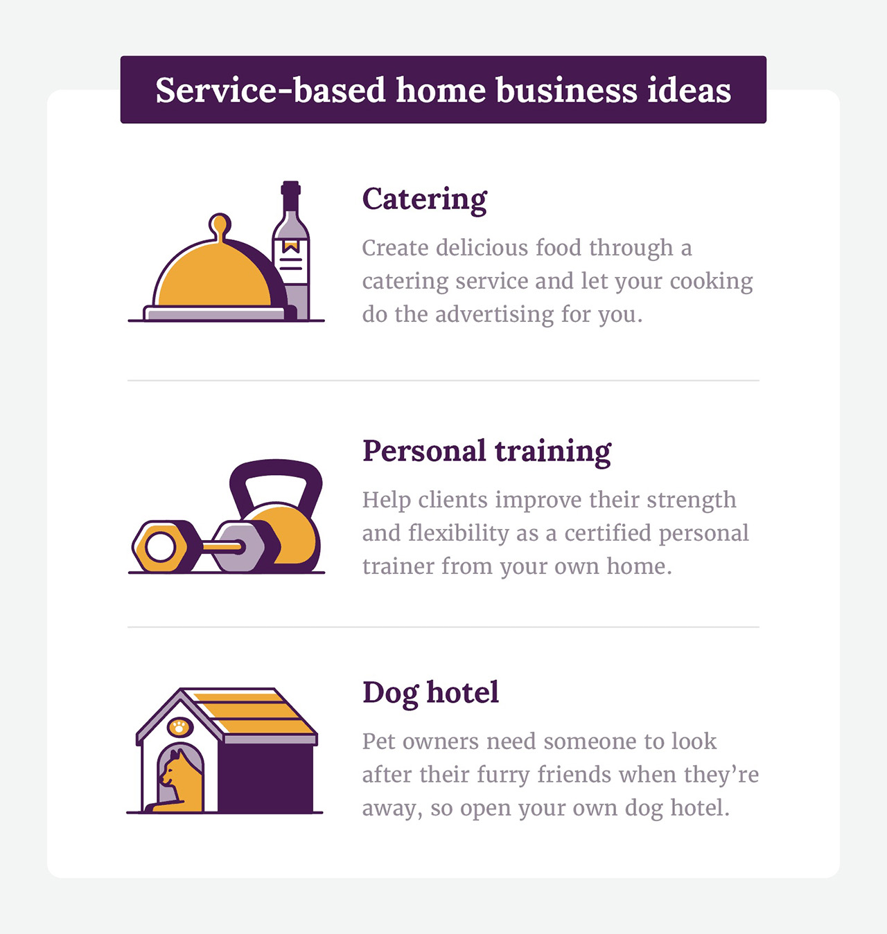 Service based home business ideas