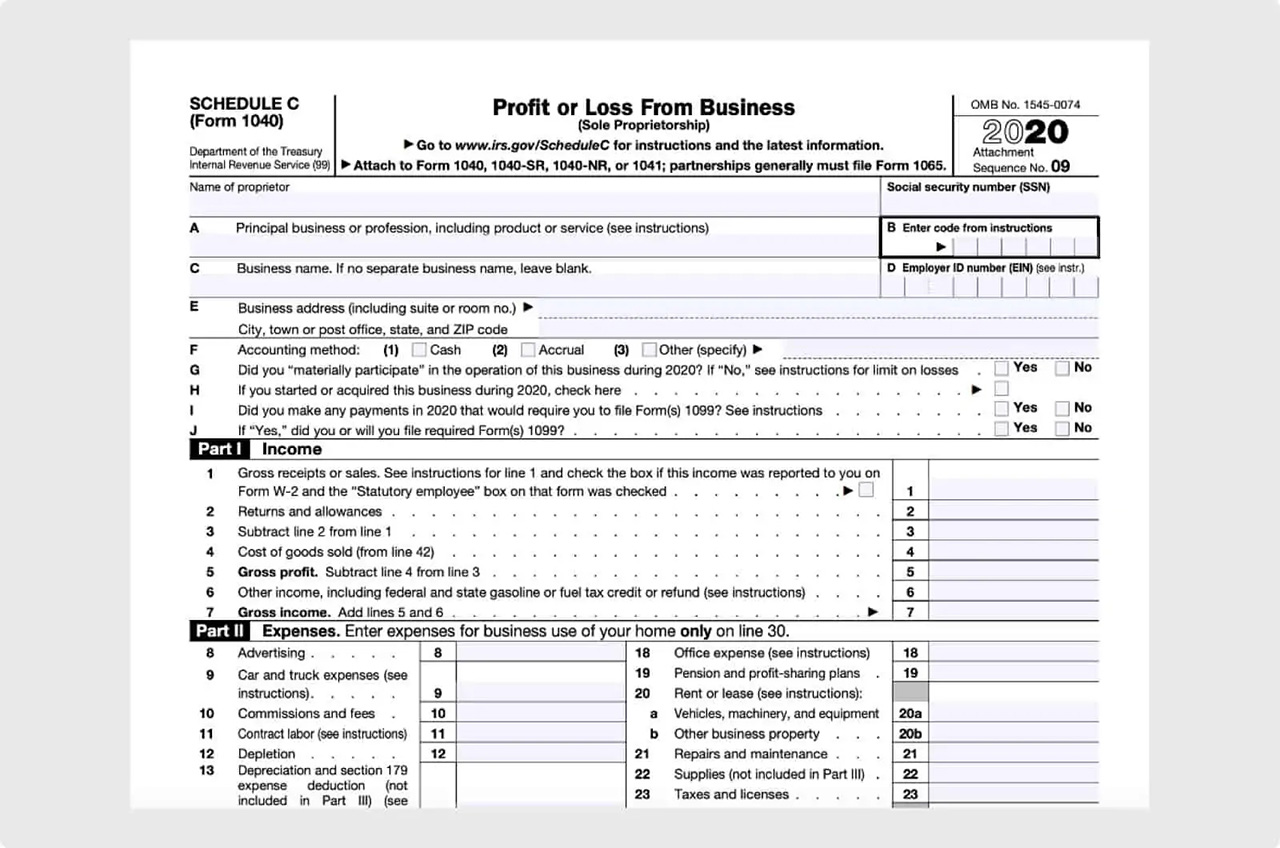 The IRS Form Schedule C