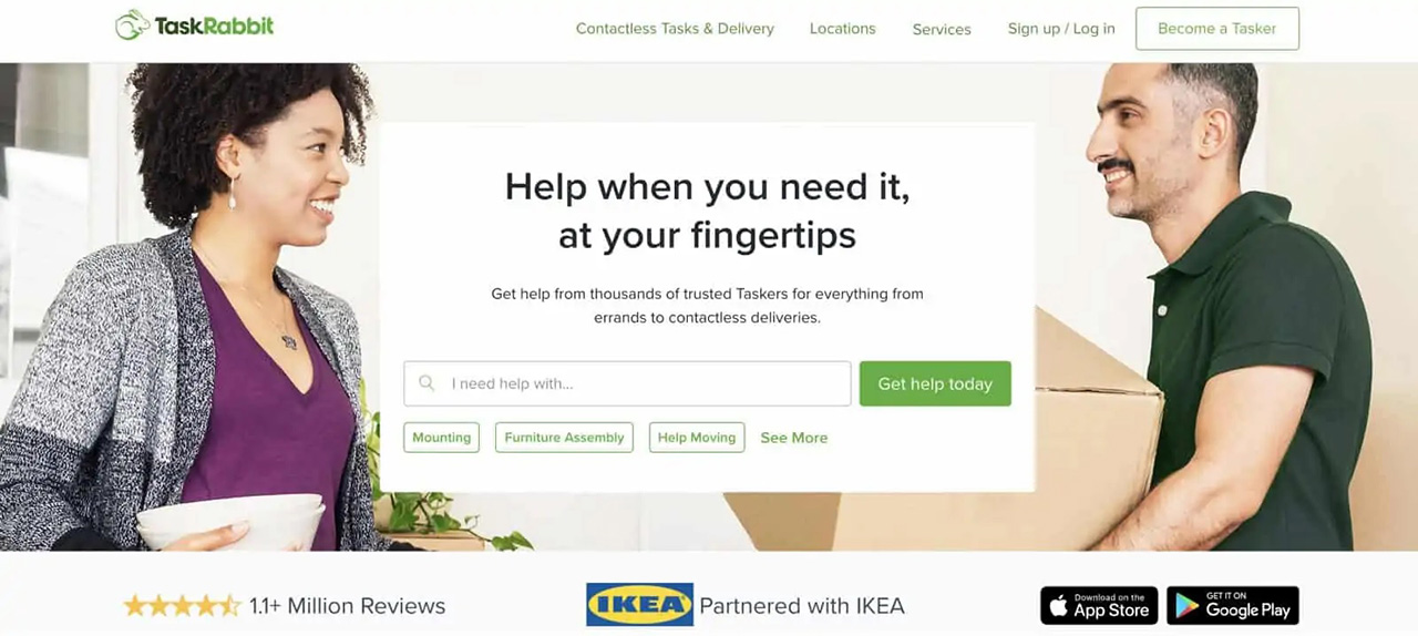 You can offer cleaning services on the TaskRabbit marketplace
