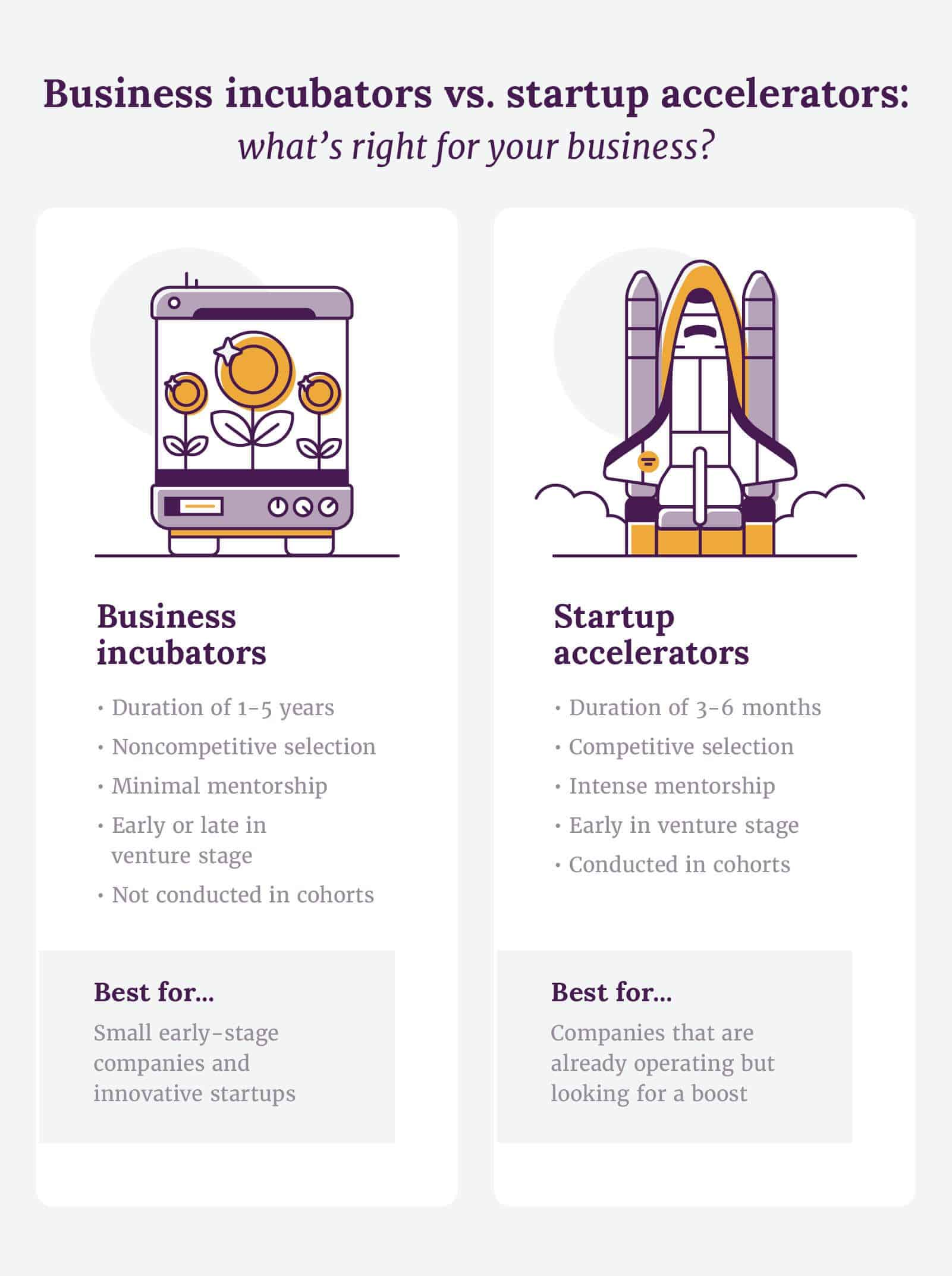 Business incubators vs. startup accelerators: what's right for your business
